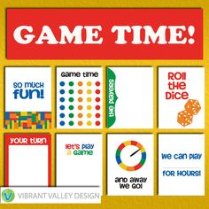 Game Time Journaling Cards, Project Life Inspired Printable JPEG, Simple Stories, Digital Scrapbooking, Instant Download, fun, games  Scrapbook