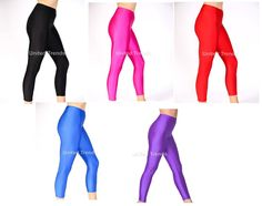 Made in a stretchy shiny nylon Lycra. Ideal for dance, gymnastics, disco, freestyle & more. FOOTLESS TIGHTS/LEGGINGS. | eBay!