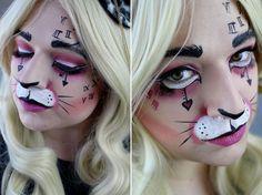 White Rabbit Make Up Alice in Wonderland  #makeup #aliceinwonderland #whiterabbit #halloween