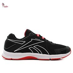 Reebok - Quickedge Run - Couleur: Blanc-Noir-Rouge - Pointure: 42.0