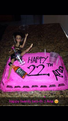 22nd Birthday Cake or 21st! Happy Birthday to my best friend!! bff birthday cake! Ana is feeling 22th lol!
