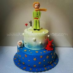 Little Prince Cake - by kutukutuyense @ CakesDecor.com - cake decorating website