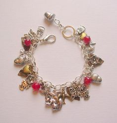 One of a Kind Woodland Charm Bracelet by blushingpixie on Etsy, $45.00