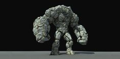 Stone Golem destroyed with PullDownItComputer Graphics & Digital Art Community for Artist: Job, Tutorial, Art, Concept Art, Portfolio
