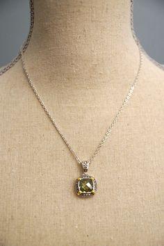 Peridot CZ necklace