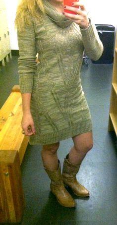 Sweater (dress) weather! Hurrah!
