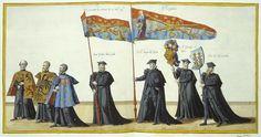 Duetecum, Jan van; Duetecum, Lucas van Funeral Procession in Brussels on the Occasion of the Death of Emperor Charles V. Sheet 3-4 Flanders, 1559