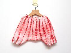 salmon pink girls harem shorts