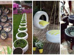 Úžasné inspirace na to, jak zrecyklovat staré pneumatiky a vytvořit si tak unikátní zahradní dekoraci! Stepping Stones, Outdoor Decor, Plants, Home Decor, Craft Ideas, Flowers, Other, Stair Risers, Flora