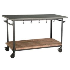 Rolling Console Cart - traditional - kitchen islands and kitchen carts - Wisteria My Home Design, Küchen Design, House Design, Design Ideas, Industrial Kitchen Design, Eclectic Kitchen, Design Kitchen, Studio Kitchen, Rustic Industrial