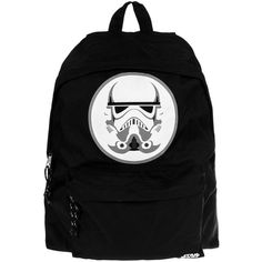 Star Wars Stormtrooper Backpack (Black) ($45) ❤ liked on Polyvore featuring bags, backpacks, knapsack bags, black bag, black backpack, galaxy bag and galaxy print backpack
