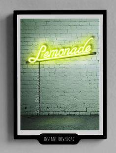 Beyonce, Lemonade, Limonada, Poster, Neon, Limón, Decorativo, Habitación, Música, Fan, Regalo Para Ella, iPhone, ipad, DESCARGA DIRECTA de ArteRKL en Etsy #Beyonce #Lemonade #Lemons #Music #Queen #Neon #NeonLights #NeonDecor #RoomDecor #Decor #Illustration #DigitalIllustration #Formation