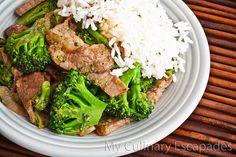 Stir fry beef and broccoli (248 calories)