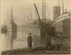 Intriguing image from the Cuyahoga River ca. 1880s.