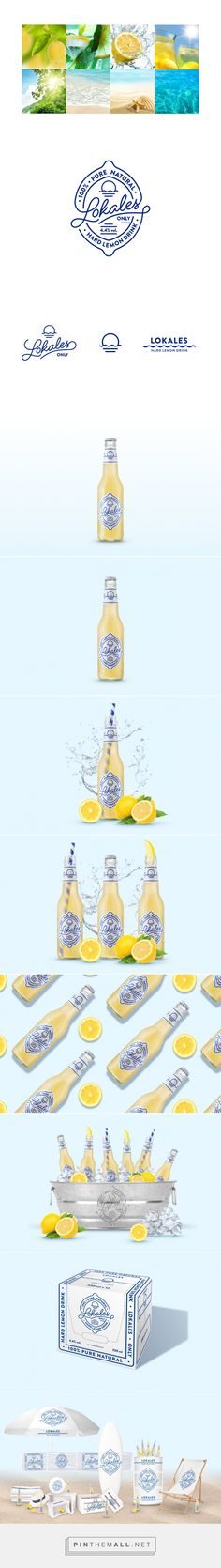Lokales alcoholic lemonade packaging design by LANGE & LANGE - http://www.packagingoftheworld.com/2017/01/lokales.html