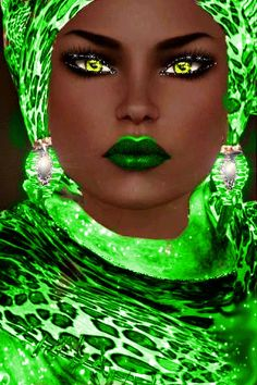 Green - Google search - Black art Nubian Queen - Isis Alada: http://isialada.blogspot.com/