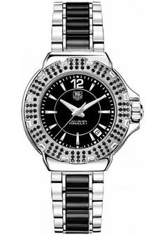 Tag Heuer Black Dial Ceramic Watch http://edivewatches.com/product/tag-heuer-black-ceramic-ladies-watch/