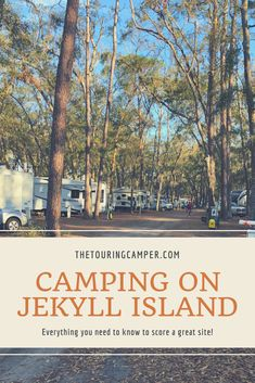 Planning a camping trip to Jekyll Island, Georgia? Here's everything you need to know to score a great site--and have a blast! Solo Camping, Camping Life, Camping With Kids, Family Camping, Tent Camping, Camping Gear, Camping Items, Camping Trailers, Glamping