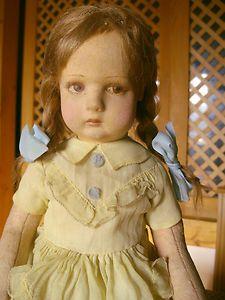 Lenci felted doll- eyelashes