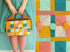 DIY Vintage Needlepoint Bag  http://blog.makezine.com/craft/flashback_needlepoint_purse/