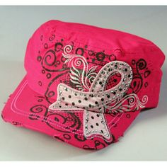 {HP} Cowgirls United by Pink Rhinestone Cap Host Pick 10/17/15  Cowgirls United by Pink: Pink Ribbon and Rhinestone Cap     Overprinting and stitching     Adjustable back sized to fit most       100% Cotton   Cowgirls United by Pink Brochure is included.  Care Instructions: Blot with cool damp cloth. Do not machine wash or use chlorine bleach. (4/21/35 Cowgirls United by Pink  Accessories Hats
