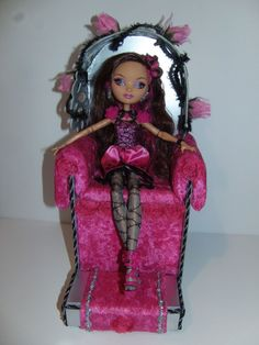Ever After High Furniture * Throne and Footstool* for Briar Beauty doll Handmade