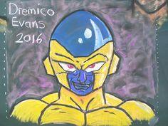 Dremico's Art Channel: Chalk Art Dragon Ball Characters