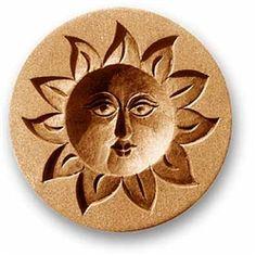 Sun springerle cookie mold