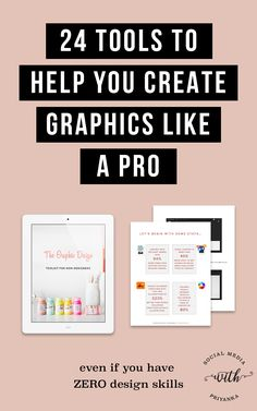 Your one stop shop for all things graphic design even if you have ZERO design skills! You'll get instant access to my TOP design tools for non-designers (most of which are FREE to use) for creating kickass graphics for your blog, social media platforms, PDF downloads and even print materials. // Social Media with Priyanka