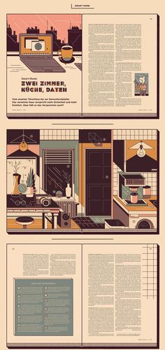 Editorial Design and Illustrations for the German Magazine »DER SPIEGEL Wissen« (The Digital Life). The special feature consists of three articles about our smart living and how this will influence us in future.