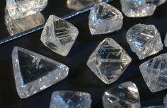 Rough diamonds. Photo credit: De Beers Group