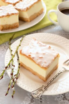 First Communion Cakes, Quick Dessert Recipes, Polish Recipes, Recipe For 4, Mousse, Camembert Cheese, Cheesecake, Good Food, Easy