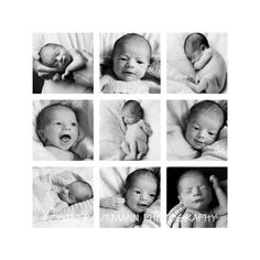 new baby collage