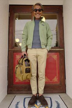 Old Man Fashion, Japan Fashion, Military Fashion, Mens Fashion, Kaki Outfits, Casual Outfits, Men Casual, American Casual, Dandy Style