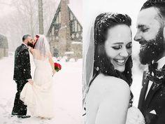 14 par, które udowodniły, że ślub w zimie może być fajny i piękny