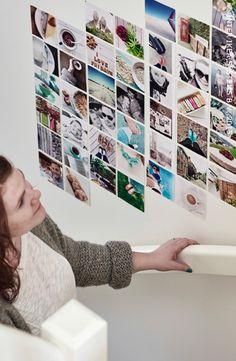 Votre mur Instagram #IKEABE #idéeIKEA #DIY #photocollage
