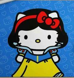 Hello Kitty as Snow White Hello Kitty Cartoon, Hello Kitty Characters, Hello Kitty Art, Hello Kitty My Melody, Hello Kitty Birthday, Sanrio Characters, Here Kitty Kitty, Hello Kitty Backgrounds, Hello Kitty Wallpaper