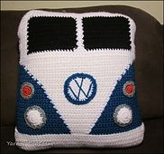 Ravelry: VW Van Pillow pattern by Yarn Twins - I'd use this design for a little boy'd pajama bag!
