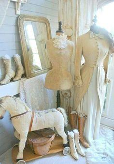 Brocante, déco vintage brocante campagne, ancien mannequin de couturière