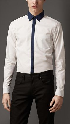 Burberry London Cotton Colour Block Shirt