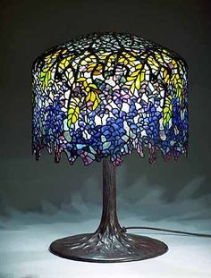 "My dream home will be full of Tiffany lamps. Real one's - not knock off's.  This one is called ""Wisteria."" Love it."