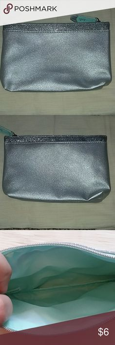 Ipsy makeup bag, silver and mint green Cute December 2017 ipsy makeup bag. Silver and mint green. New, never used!  Offers and questions are encouraged! ipsy Bags Cosmetic Bags & Cases