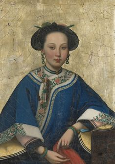 In the style of Lang Shining (Giuseppe Castiglione), Portrait of Xaing Fei, The Fragrant Concubine, Qing Dynasty, Century. Chinese Style, Chinese Art, Geisha, Photografy Art, Costume Ethnique, Chinese Clothing, Ancient China, Qing Dynasty, Chinese Culture