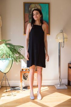 Birds of North America Clothing Spring Summer 2018 Sicklebill Dress (Black) Made in Canada Canadian Fashion Victoire boutique