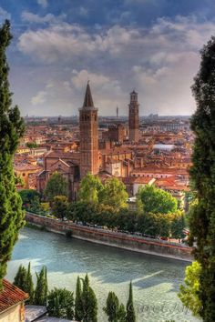 Verona - Veneto Italy.... Relax with these backyard landscaping ideas and landscape design. #Relax more with this #music remixed with #BinauralBeats that can #heal you. #landscaping #LandscapingIdeas #landscapeDesign