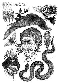 Tattoo flash 2 - dragon on behance Black Crow Tattoos, Black Art Tattoo, Torso Tattoos, Old Tattoos, Tattoo Flash Sheet, Tattoo Flash Art, Tattoo Sketches, Tattoo Drawings, Hamilton Tattoos