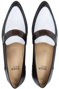toga-pulla-colour-block-leather-loafer-black-white
