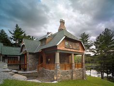 New waterfront home in Lackawaxen, PA. Peter Zimmerman Architects.