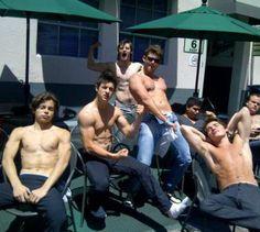The Wizards of Waverly Place cast... Woah Greg Sulkin Jake T. Austin and David Henrie