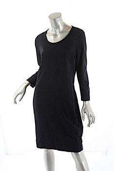 c167e3386 Standard JAMES PERSE Black 100% Cotton Terry Knit T-Shirt Dress Sz 3 COMFY